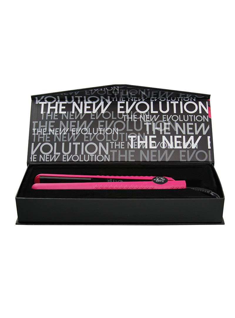 evalectric flat iron for straight hair hot pink
