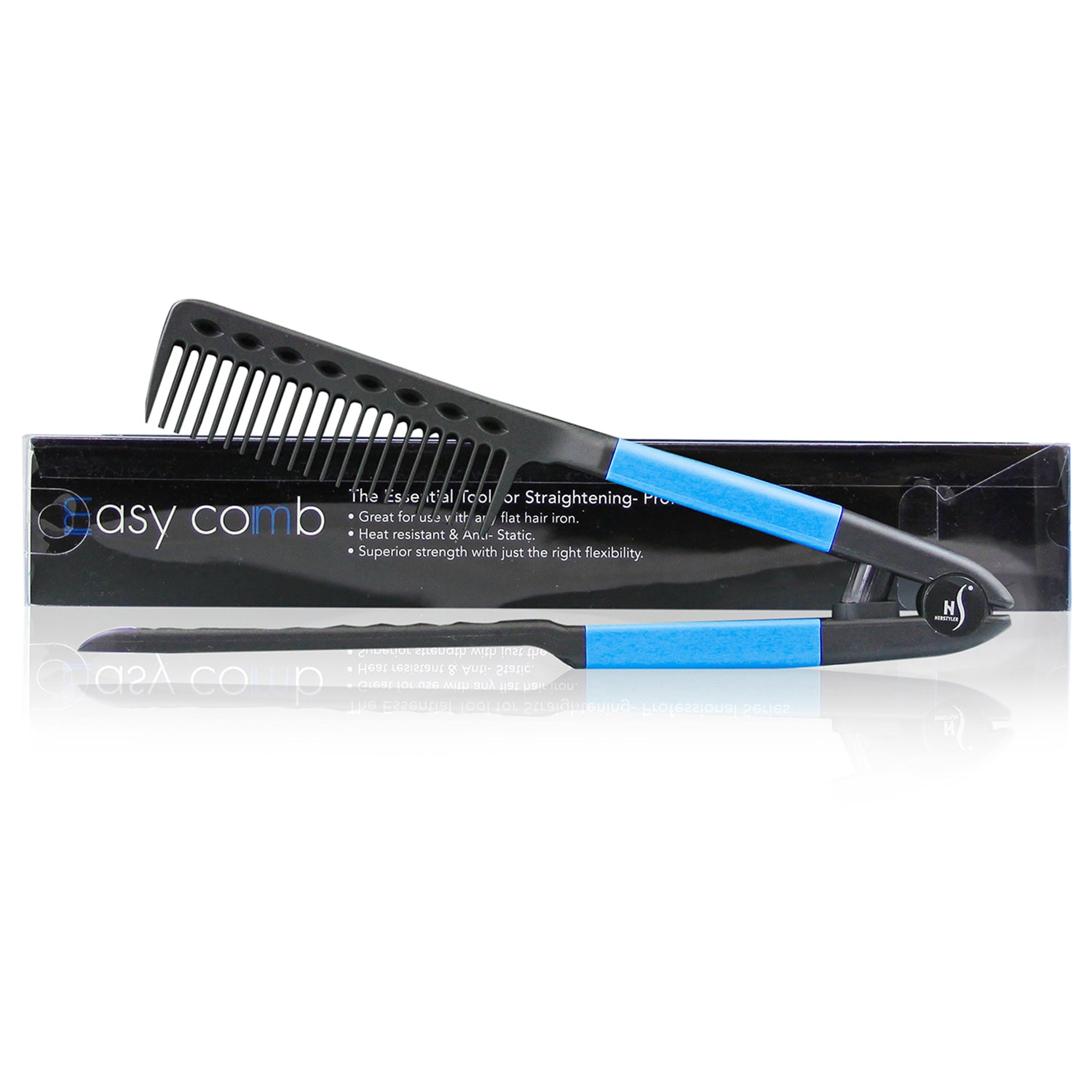 herstyler straightening comb for hair blue
