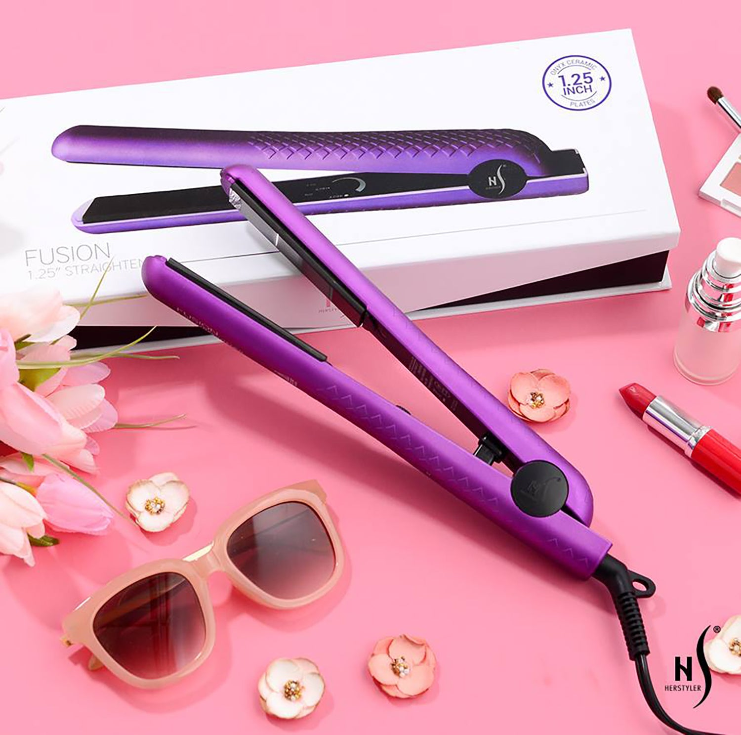 herstyler ceramic flat iron purple