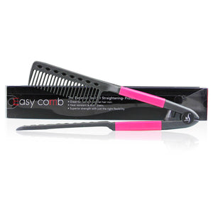 herstyler straightening comb for hair pink