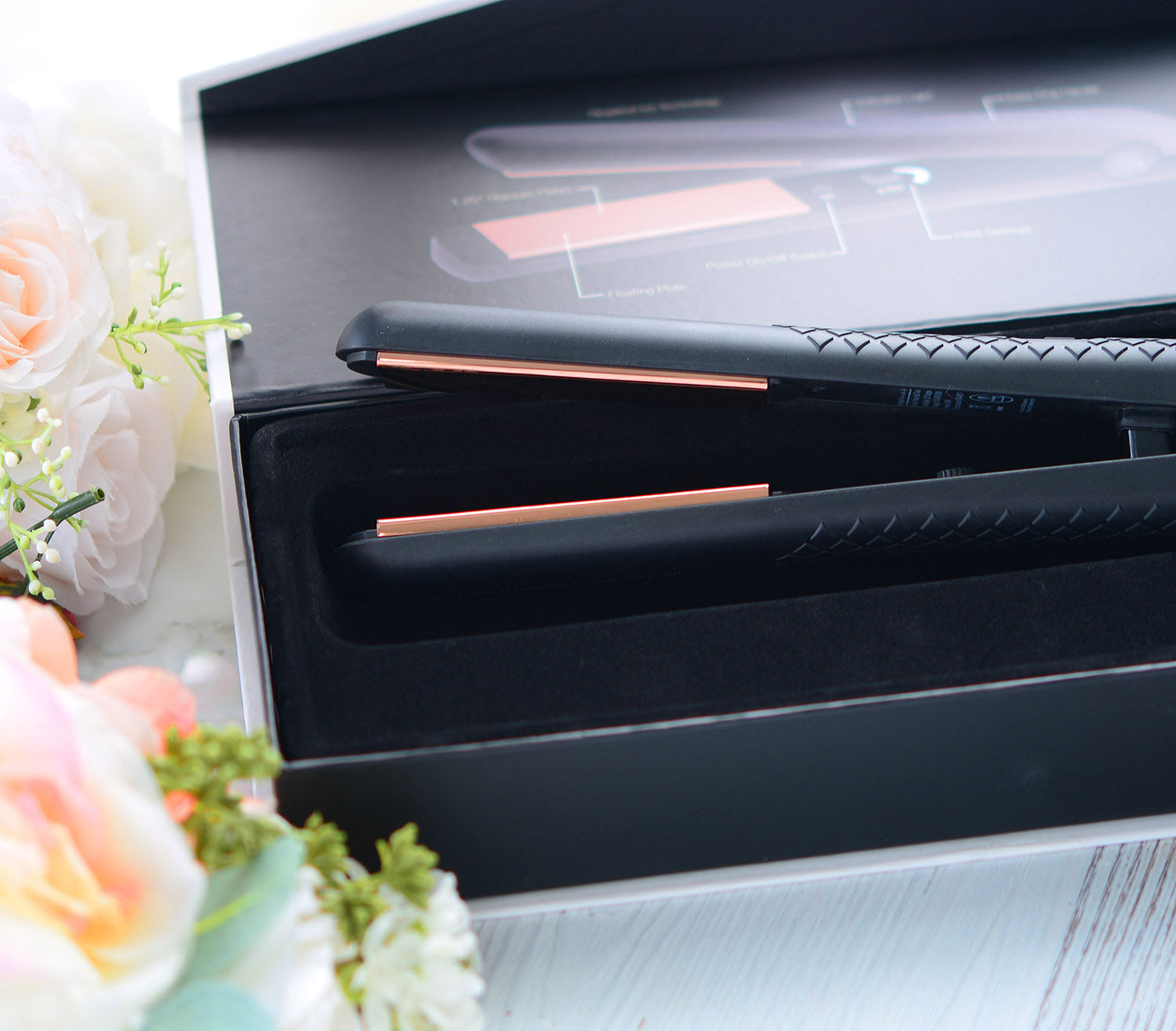 herstyler rose gold flat iron