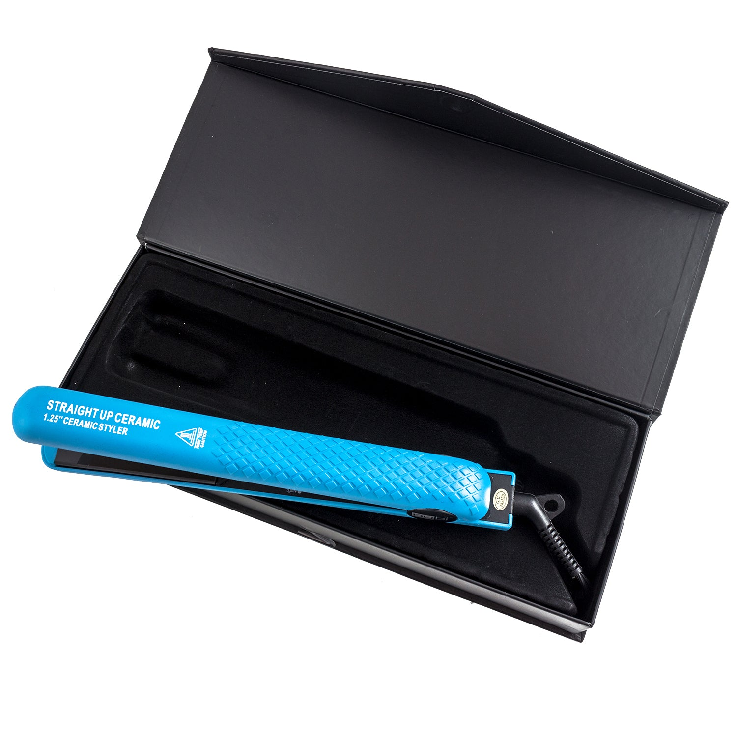 nubi blue flat iron for short hair