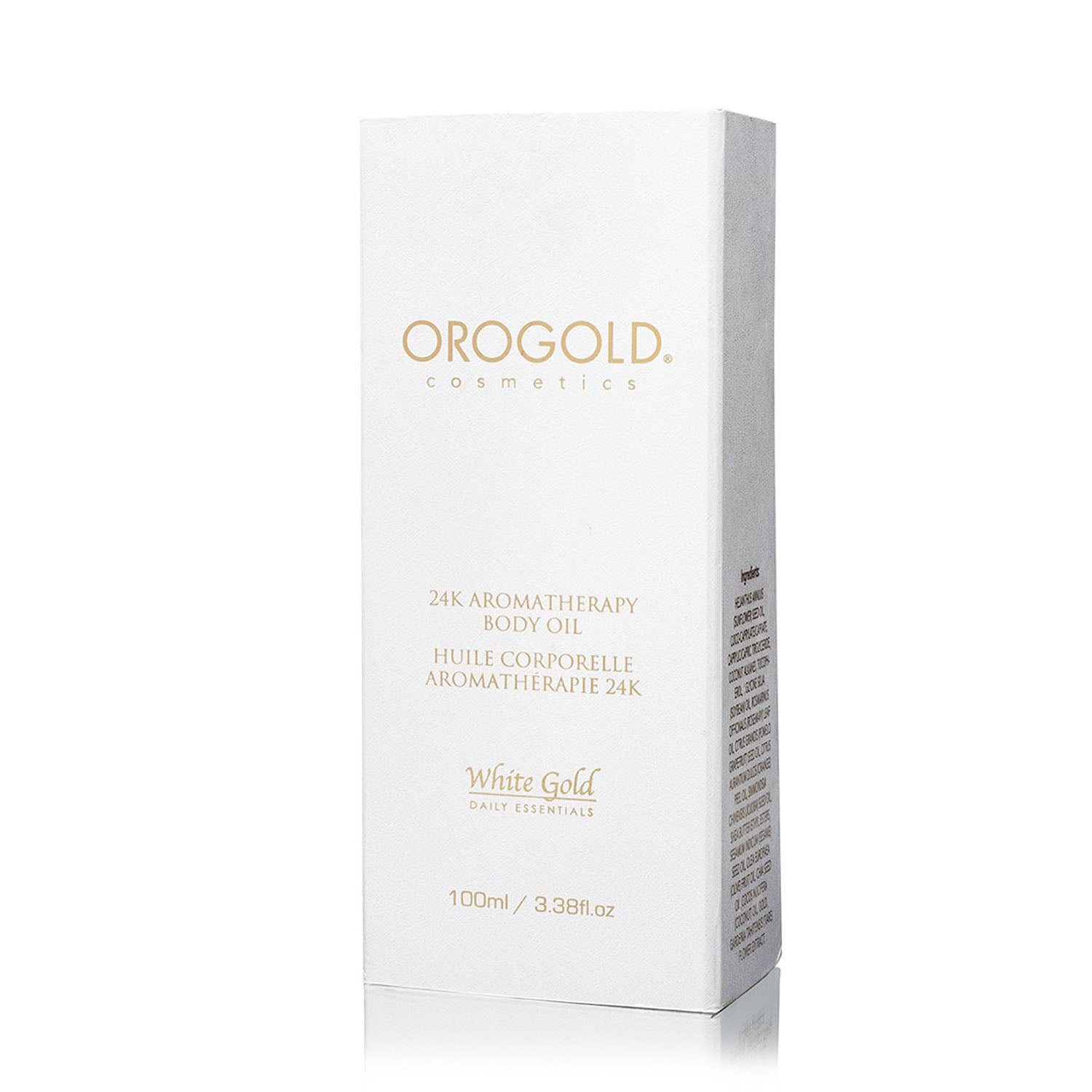 orogold white gold 24k aromatherapy body oil