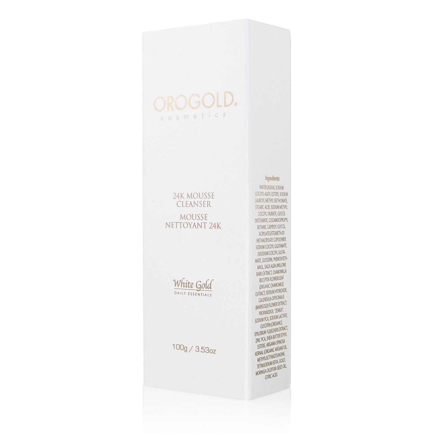 orogold white gold 24k mousse mild facial cleanser