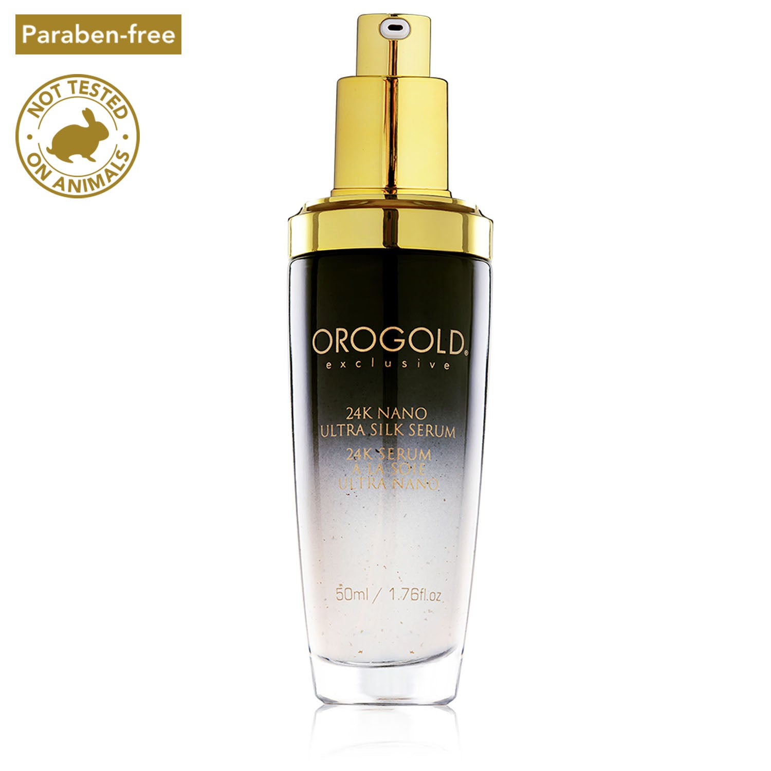 orogold nano ultra brightening silk serum for face