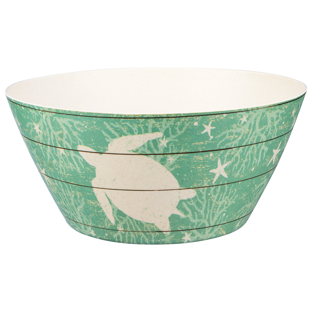Bamboo Serving Bowl - Turtles