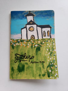 """Gather"" Painted Church Journal"