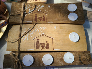 Nativity candles