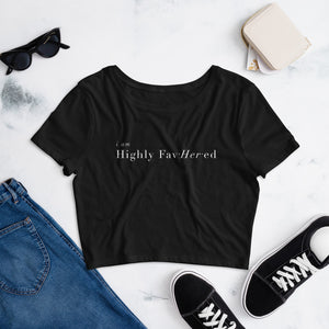Highly FavHERed Cropped Tee