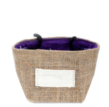 Load image into Gallery viewer, Natural Jute Cotton Gift Bag - Lavender Lining - Small