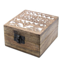 Load image into Gallery viewer, White Washed Wooden Box - 4x4 Slavic Design