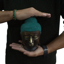 Load image into Gallery viewer, Large Classic Brass Buddha Head