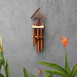 Bamboo Windchime - Natural finish - Brown Buddha 6 Tubes