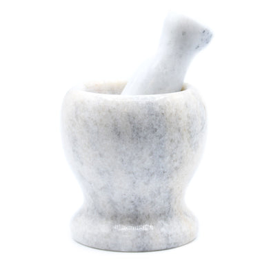 Large Grey Marble Pestle & Mortar - 11x10cm