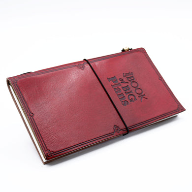 Handmade Leather Journal - Little Book of Big Plans - Red (80 pages)