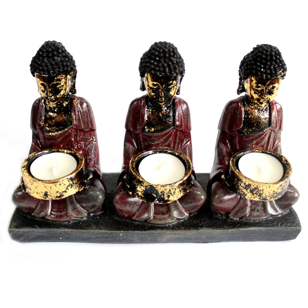 Three Devotees Candle Holder - Muneragifts.co.uk