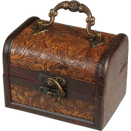 Lrg Colonial Box - Floral Embossed - Muneragifts.co.uk