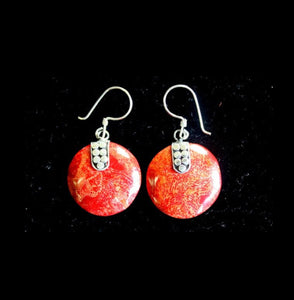 Coral Style Silver Earrings - Disc Disc Décor