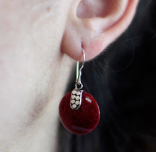 Load image into Gallery viewer, Coral Style Silver Earrings - Disc Disc Décor