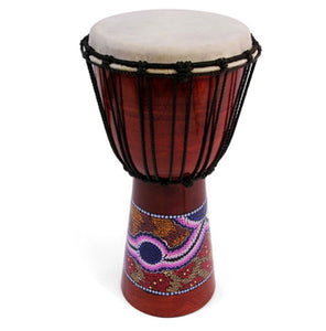 Large Painted Djembe