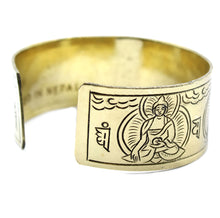 Load image into Gallery viewer, Brass Tibetan Bracelet - Five Buddha
