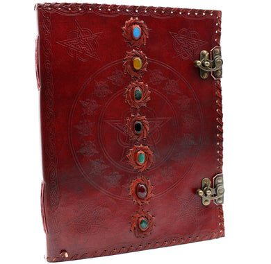 Huge 7 Chakra Leather Book - 10x13 (200 pages)