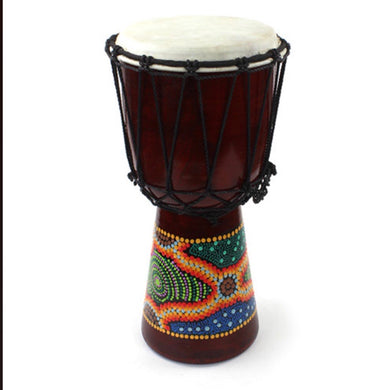 Medium Painted Djembe