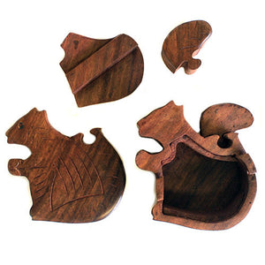Squirrel Puzzle Box - Muneragifts.co.uk