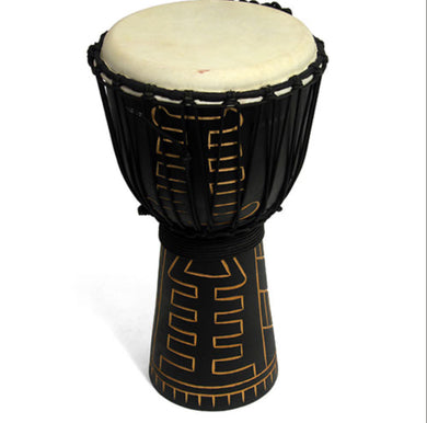Dark Carved Good Quality Djembe 50cm