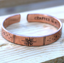 Load image into Gallery viewer, Inspiration Bracelet - Copper Sunrise, Galaxy, Stars, Earth