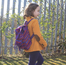 Load image into Gallery viewer, Small Nepali Backpacks - Violet