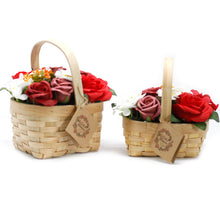 Load image into Gallery viewer, Large Red Bouquet in Wicker Basket