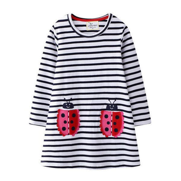 Lady Bug Long Sleeve Dress