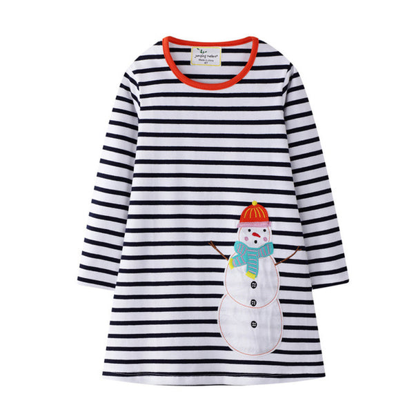 Snowman Long Sleeve Dress