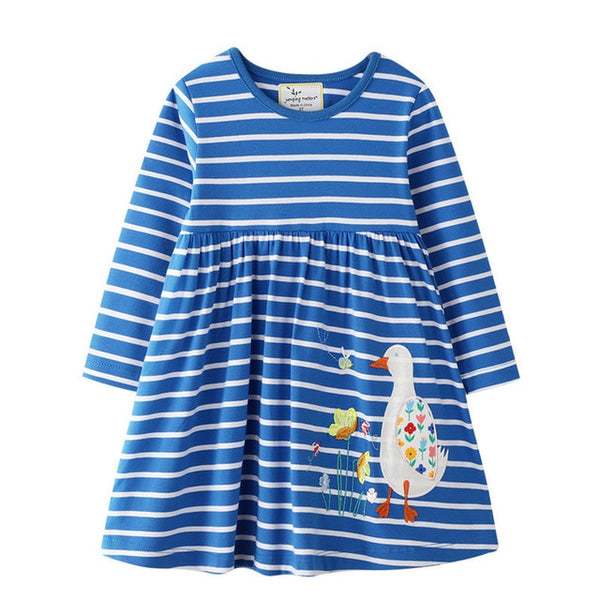 Blue Stripe Duck Dress