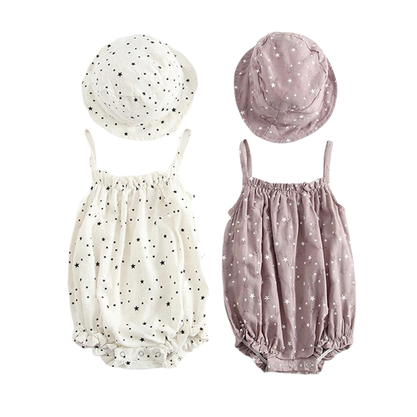 Star Romper and Hat Set - lottie-and-lane