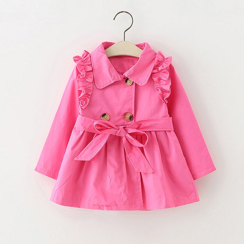 Girls Trench Coat Pink