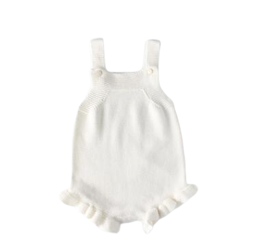 Knitted Romper with Ruffle Leg