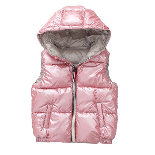 Pink Metallic Vest Kids