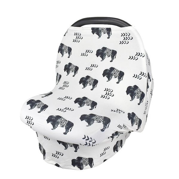 Buffalo Nursing and Car Seat Cover - lottie-and-lane