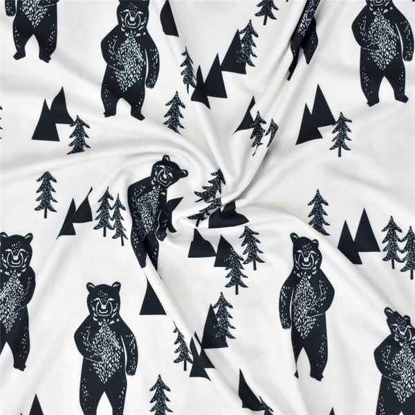 Bear print nursing and car seat cover