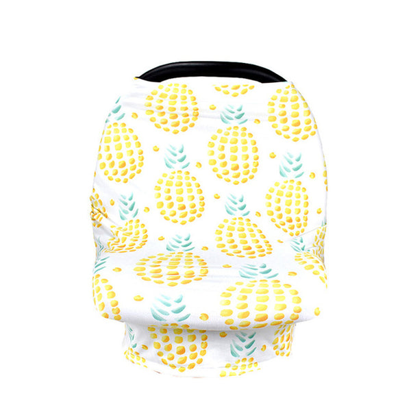 Pineapple Nursing and Car Seat Cover - lottie-and-lane
