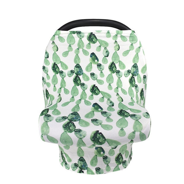 Cactus Nursing and Car Seat Cover - lottie-and-lane