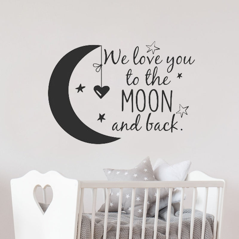 We Love You To The Moon And Back Wall Decal - lottie-and-lane