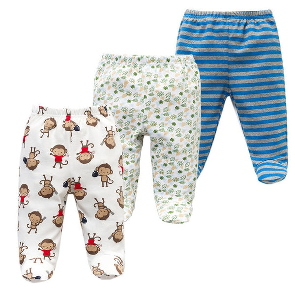 Cotton Footed Pants - 3 Pack - lottie-and-lane