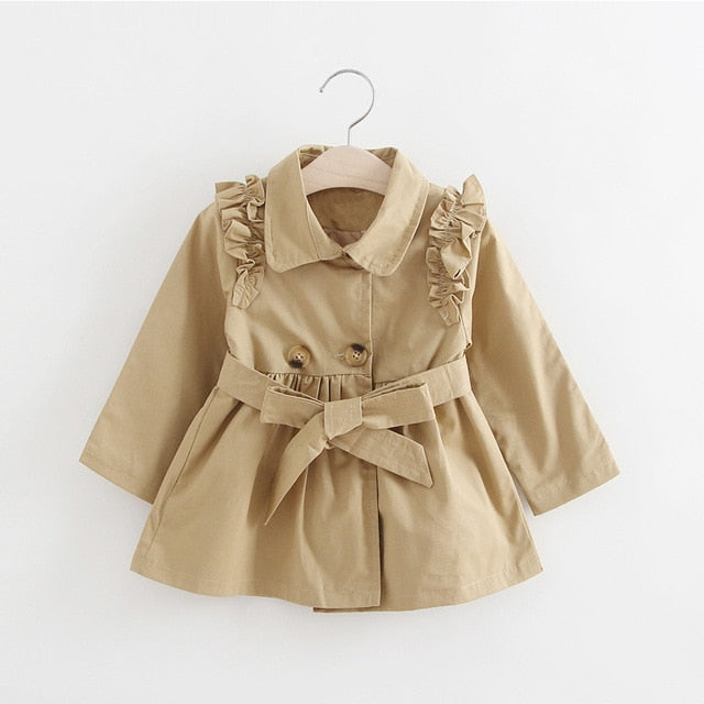 Girls trench coat brown