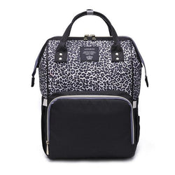 Leopard print diaper bag