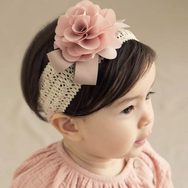 Flower Headband with Crochet Detail - lottie-and-lane