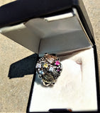 BLACK HILLS 12 KT GOLD ND STERLING SILVER LADIES RING SIZE 8.5