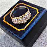 WWW.vintagepalace.us, Ladies PURPLE tANZENITE, AND 10 KARAT YELLOW GOLD, cOCKTAIL rING, SIZE 10,